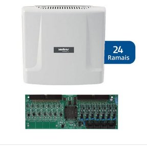 Kit Central de Interfone Condomínio com 24 Ramais - Intelbras Comunic 48 + Placa Desbalanceadas