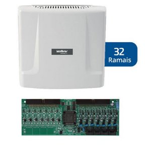 Kit Central de Interfone Condomínio com 32 Ramais - Intelbras Comunic 48 + Placa Desbalanceadas