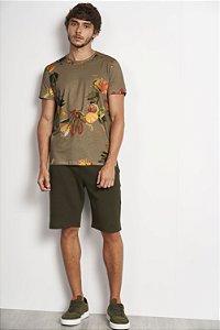Camiseta Colcci Estampada Floral Masculina