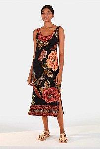 Vestido Farm Rib Floral Yawanawa