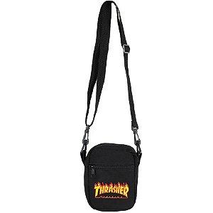 Bolsa Thrasher Shoulder Bag Flame Logo Unissex