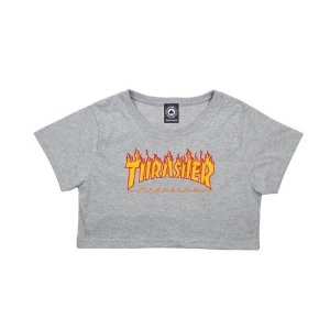Cropped Thrasher Flame Logo Feminino