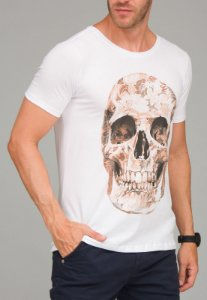 Camiseta Red Feather The Leaves Skull Masculina