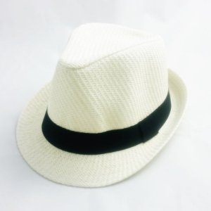 Chapéu Fedora branco