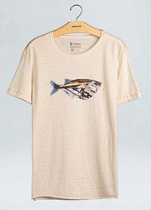 Camiseta Osklen Cânhamo Organic Mint Wash Fish Masculina