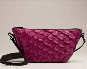 Bolsa Osklen Andiroba Mini Bag Feminina Orquídea Pirarucu