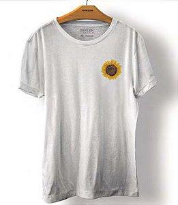 Camiseta Osklen Regular Stone Sunflower Masculina Branca