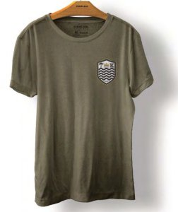 Camiseta Osklen Stone Brasão Masculina Verde