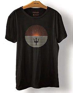 Camiseta Osklen Vintage Sun Listras Masculina Preta