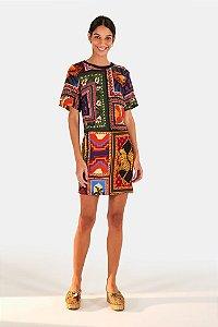 Vestido T Shirt Farm Tapeçaria Patch