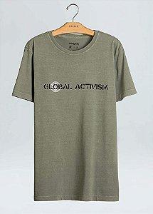 Camiseta Osklen Stone Global Activism Masculina Verde