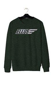 Blusa Ellus Moletom Melange Italic Easa Masculino Verde