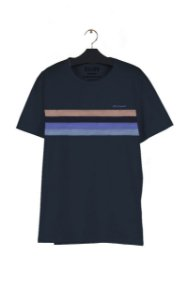 Camiseta Ellus Cotton FIne Ellus Bold Stripes Masculina Azul