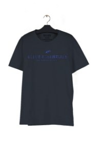 Camiseta Ellus Fine Essentials Easa Masculina Azul