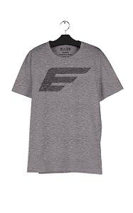 Camiseta Ellus Melange Maxi Easa Masculina Mescla Cinza