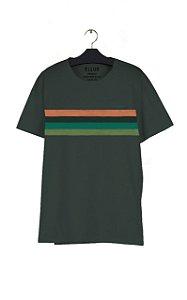 Camiseta Ellus Cotton FIne Ellus Bold Stripes Masculina Verd