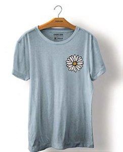 Camiseta Osklen Stone Margarida Masculina Azul