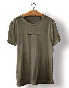 Camiseta Osklen Vintage Forests Stencil Masculina Verde