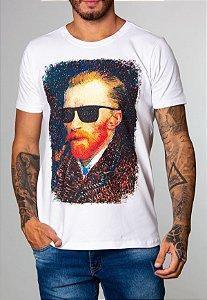 Camiseta Red Feather Van Gogh Masculina Branca