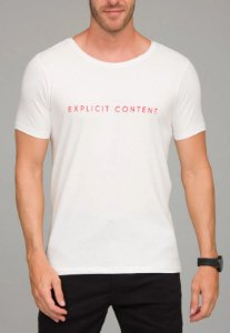 Camiseta Red Feather Explicit Content Masculina Off