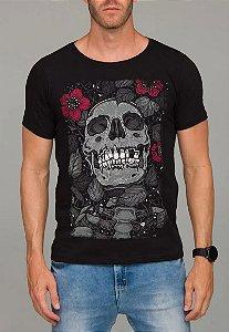 Camiseta Red Feather The Skull Art Board Masculina Preta