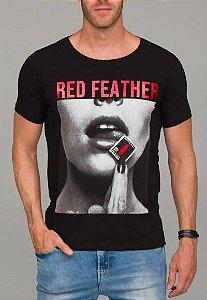 Camiseta Red Feather Red Stamp Masculina Preta
