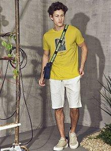 Camiseta Colcci Estampada Masculina Amarela Atalaia
