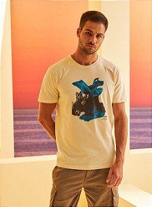 Camiseta Forum Estampada Bege Leblanc