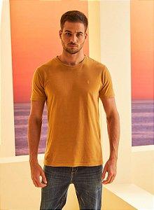 Camiseta Forum Básica Masculina Marrom Tostado