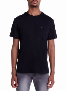 Camiseta John John Lisa Pocket Basic Masculina Preta