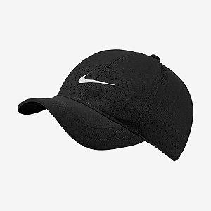 Boné Nike Aba Curva Arobill Respirável Unissex Preto