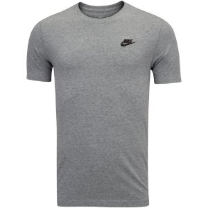 Camiseta Nike Sportswear Club Masculina Cinza