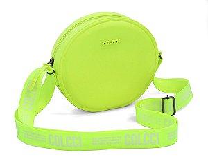 Bolsa Colcci Quebek Logomania Feminina Verde Neon