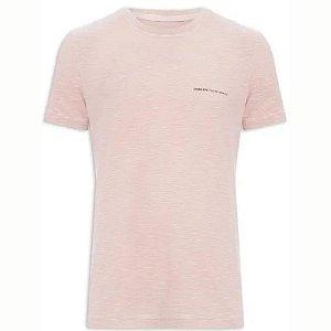 Camiseta Osklen Rough Floral Masculina Rosa