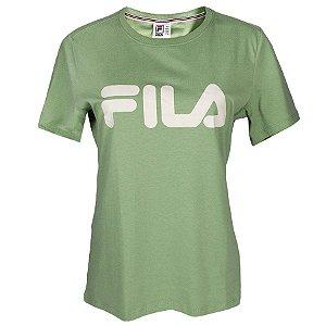 Camiseta Fila Manga Curta Basic Letter Feminina Verde
