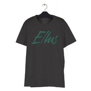 Camiseta Ellus Fine Manual Classic Masculina Preto