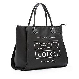 Bolsa Colcci Shop Bag Nylon Logo Feminina Preto