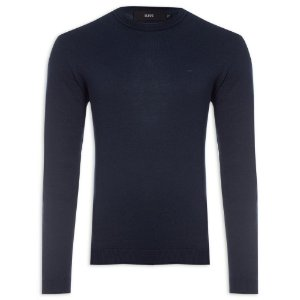 Suéter Ellus Cotton Basic Classic masculino Marinho