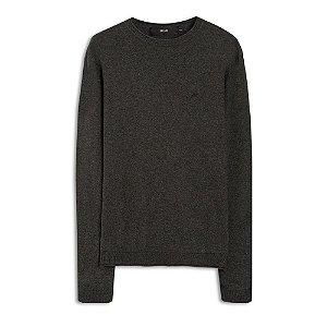 Suéter Ellus Cotton Basic Classic masculino Cinza