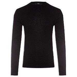 Suéter Ellus Cotton Basic Classic masculino Preto