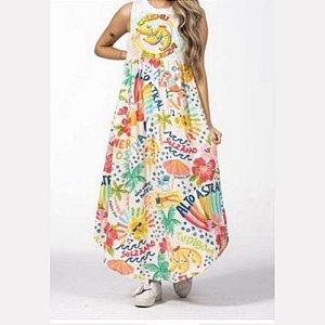 Vestido Cropped Farm Silk Chuchu Beleza