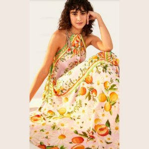 Vestido Cropped Farm Sonho de Tangerina Lenço