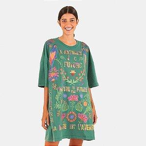 Vestido Farm T-shirt Silk Natureza