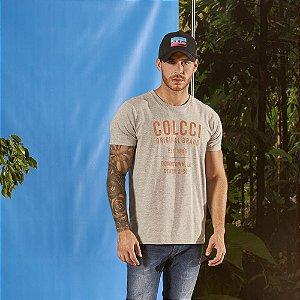 Camiseta Colcci Estampada Masculina Mescla Grafite