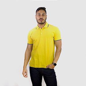 Polo Ellus Easa Frisos Classic Masculina Amarelo