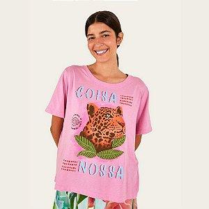 T-shirt Farm Fit Coisa Nossa Rosa