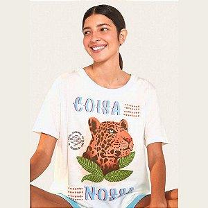 T-shirt Farm Fit Coisa Nossa Off White