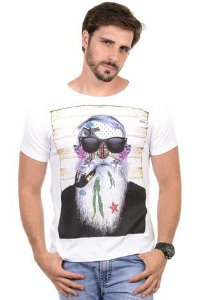 Camiseta Masculina Brisa do Mar RED FEATHER