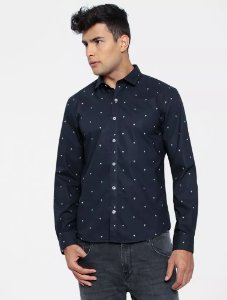 CAMISA ELLUS SAVANNAH SLIM NEW ITALIAN DARK NAVY