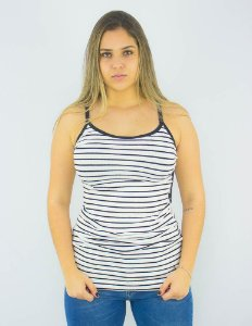 REGATA STRIPPED RIB SLEEVELESS ELLUS FEMININO
